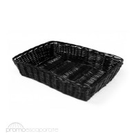 Cesta Ratán Multiuso - Rectangular 40 cms. - color Negro